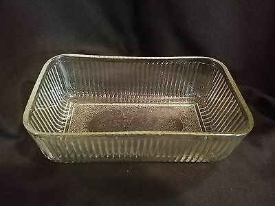 Vintage Refrigerator Storage Dish Crystal Glass No Lid