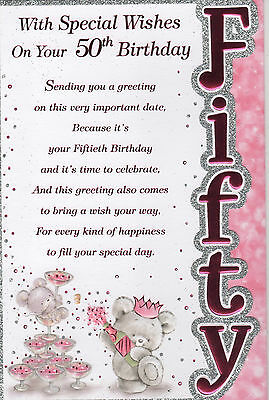 50th Birthday With Special Wishes On Your Card