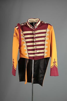Vtg 60s Marching Band Sgt Peppers Uniform Jacket sz S 36 Brass Buttons #3407