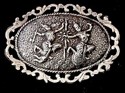 Unique Large Solid Silver Interesting Antique Brooch Hallmarked FreeUKP&P