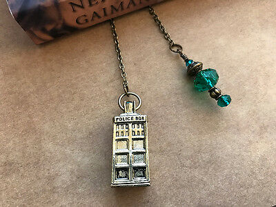 NEW Antiqued Brass Doctor Who Tardis Book Thong Bookmark from Between the Pages