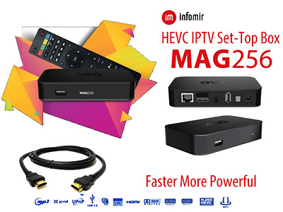 Mag 256 Box With 12 Months Iptv Service Hd Quality,7 Days Catch Up &epg Services