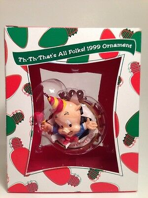 Porky Pig THAT'S ALL FOLKS Warner Bros Store Exclusive Christmas ORNAMENT 1999
