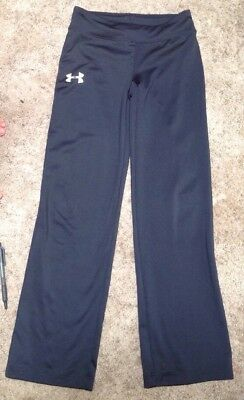 Girls Black Under Armour Leggings Yoga Pants Youth Small