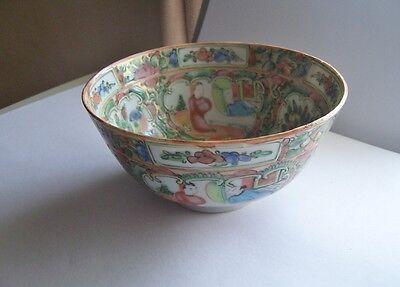 Antique Chinese Export Rose medallion small bowl rice bowl not chipped pretty