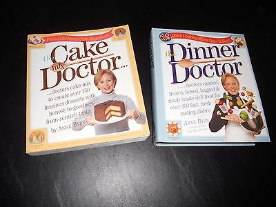 The cake doctor paperback and the dinner doctor hardcover cookbook lot cook book