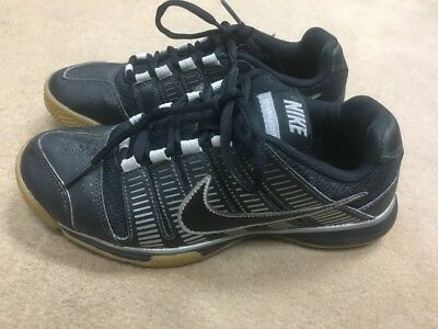 Nike Women's Court Shoes Size 6.5 Great For Volleyball And Tennis Black