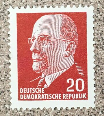 German Democratic Republic 20 Pfennig stamp from 1961 (Scott 585)