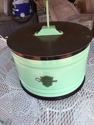 Chambers Stove Thermodome Circa 1920s to 1930 in mint green. Excellent porcelain