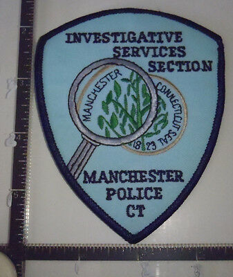 Manchester ISS CT Police Patch CONNECTICUT Investigative Services Section #1