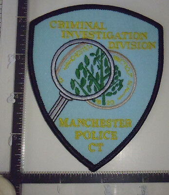 Manchester ISS CT Police Patch CONNECTICUT Investigative Services Section #2 Yel