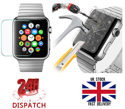 Genuine Tempered Glass For 38mm Apple Watch LCD Screen Protector Film 0.26mm