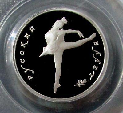 1993 Palladium Russia 5 Roubles Ballerina Coin Pcgs Proof 69