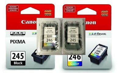 2 Pack  Genuine PG-245 CL-246 Ink Cartridge Canon PIXMA MG2420 Printer ink