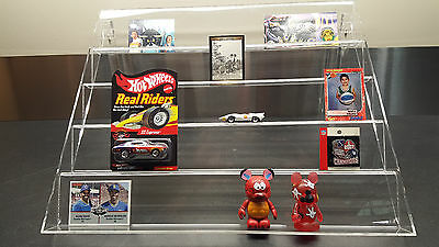 Standing Slanted Acrylic Multi-Shelf Display -Hot Wheels-Pins-Sports Cards-More