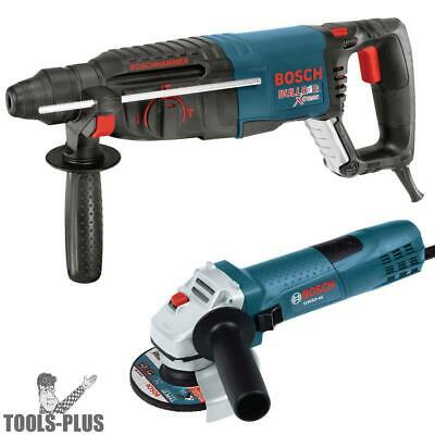 """Bosch Tools 11255VSR-GWS8 1"""" SDS-plus Rotary Hammer + 4.5"""" Angle Grinder New"""