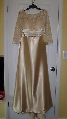 Mother of the Bride Dress Formal Gown Champagne Size 14