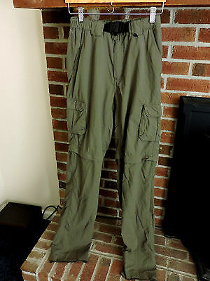 Boy Scouts of America BSA Official Green Switchback Pants Mens Sz XS Unhemmed