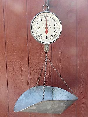 Antique Penn Scale Mfg.co. Inc. Series 820 20 Lb Produce Scale With Basket