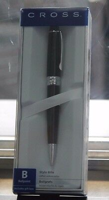 Cross AT0452S-7 Bailey Ballpoint Pen Black Lacquer NEW