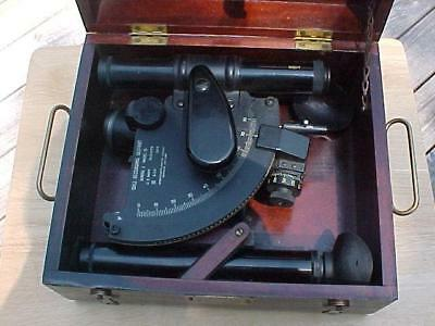 Vintage Maritime 1945 WWII US Navy Mark 1 Ball Recording Sextant