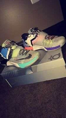 new concept 2af63 f8d89 Men Nike KD VII SE Sz 10 What The WTKD N7 Multicolor Kevin Durant 801778-