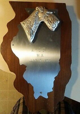 72 Winner Bitch Airedale Terrier Dog Medal Illinois Ill Atci Award Trophy Plaque