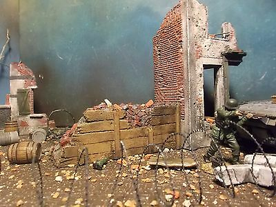 WWII Tank Trap Barbed Wire 1 35 Forces of Valor 1 32 Building Diorama Ruin