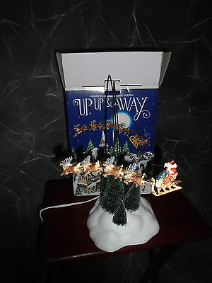 Dept 56  UP, UP & AWAY, ANIMATED REINDEER AND SLEIGH