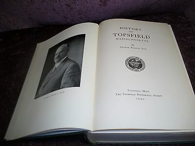 RARE 1940 HISTORY OF TOPSFIELD MASS BOOK GEORGE FRANCIS DOW Historical society
