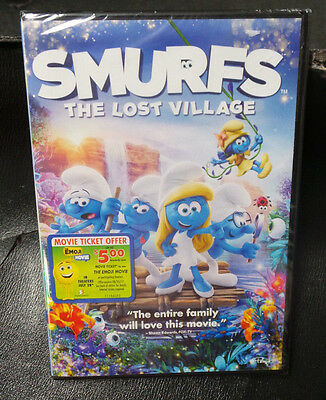 Smurfs: The Lost Village  DVD  AUTHENTIC!!    BRAND NEW,  FREE SHIPPING!!!
