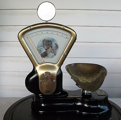 RARE 8 oz TOLEDO ANTIQUE CANDY SCALE OR SEED OR GOLD SCALE  MODEL 409 EA VGC