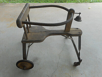 VINTAGE STROLLER--1800's --ANTIQUE RIDE ON TOY