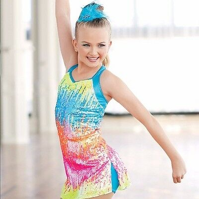Weissman Rainbow Sequenced Dance Costume - Child Large