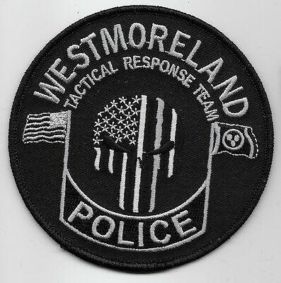SWAT SRT Punisher patch Westmoreland Police State Tennessee TN patch