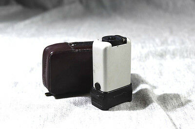 Minox Fl-4 Flash With Cordovan Red Zippered  Leather Case