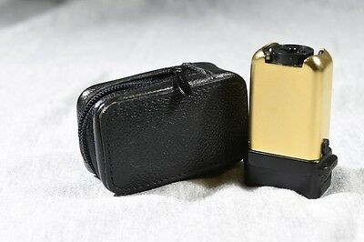Minox Gold Fl-4 Flash With Black Zippered  Leather Case!