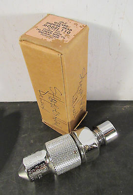 Antique vtg retro WIZARD shower head in chrome NIB