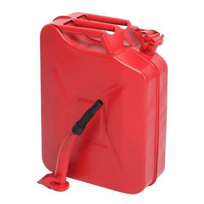 New 20L 5 Gallon Fuel Steel Jerry Can Oil Petrol Tank Military RED + A Spout Red