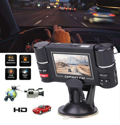 Dual Lens Car Vehicle 1080P DVR Dash Cam Digital Video Recorder Night Vision F30
