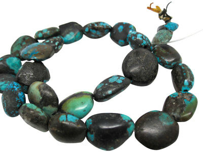 Turquoise Nugget, Turquoise Beads, Green Blue Turquoise, December Birthstone