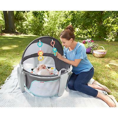 Fisher-Price Folding Portable On-The-Go Baby Infant Dome Canopy Outdoor Play