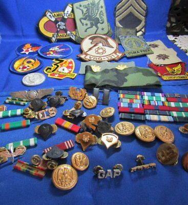 Vietnam War Army Navy Insignia, Patches & Ribbons Large Lot Of 50+