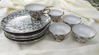 Vintage Tea Cup and Lunch Plate Set by Napco - Hand Painted - 1DD322