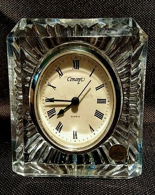 Cristal d'Arques STARBURST Crystal Mantle / Table Clock