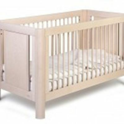 Troll Sun Wooden Baby Cot Bed White Wash