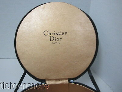 Vintage Origina Christian Dior Hunter Green Velour Zippered Hat Box