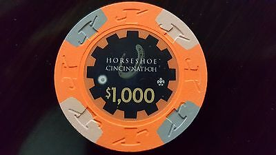 Paulson Horseshoe Casino Cincinnati OVERSIZE 43mm $1000 Chips - 20 Count