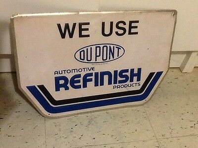 Original DU PONT Auto Paint Gas Oil sign