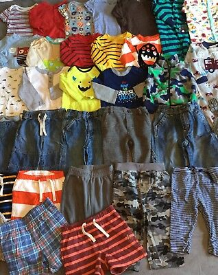 33 Piece Baby Boy Clothes Lot 6-9 6-12 Months Summer Fall